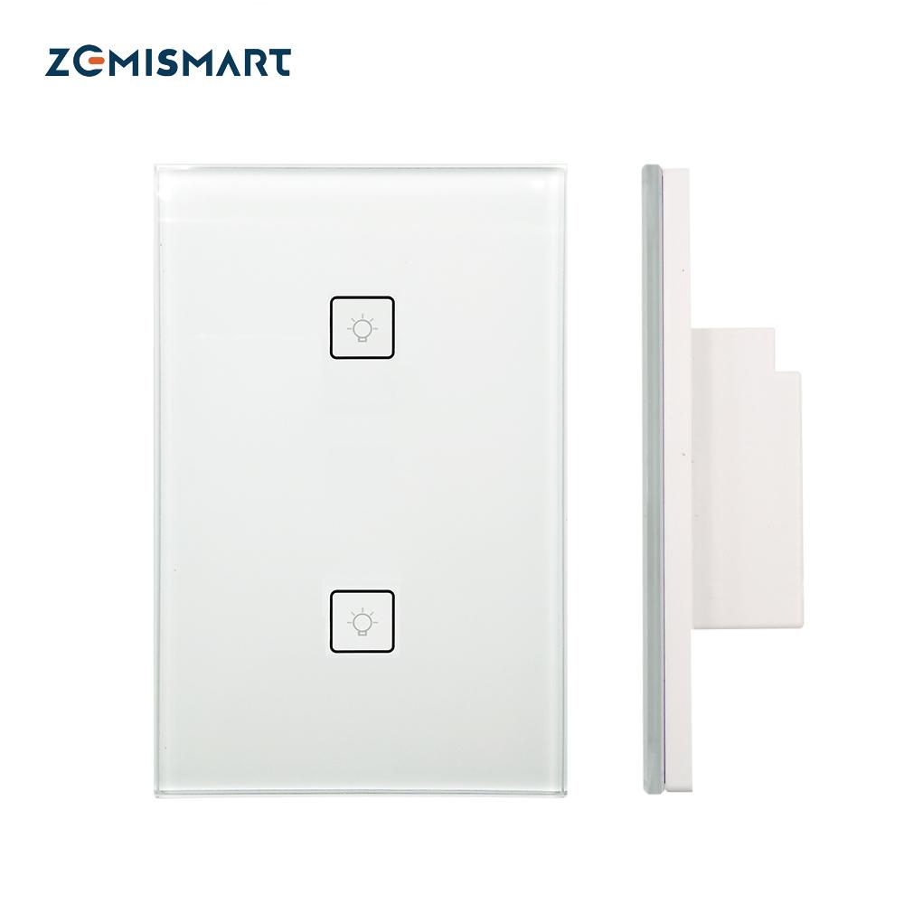 Zemismart 3 Gang Smart Light Switch Work With Amazon Alexa Google Home via  Zemismart hub Smarthings Bridge APP Phone Voice Control