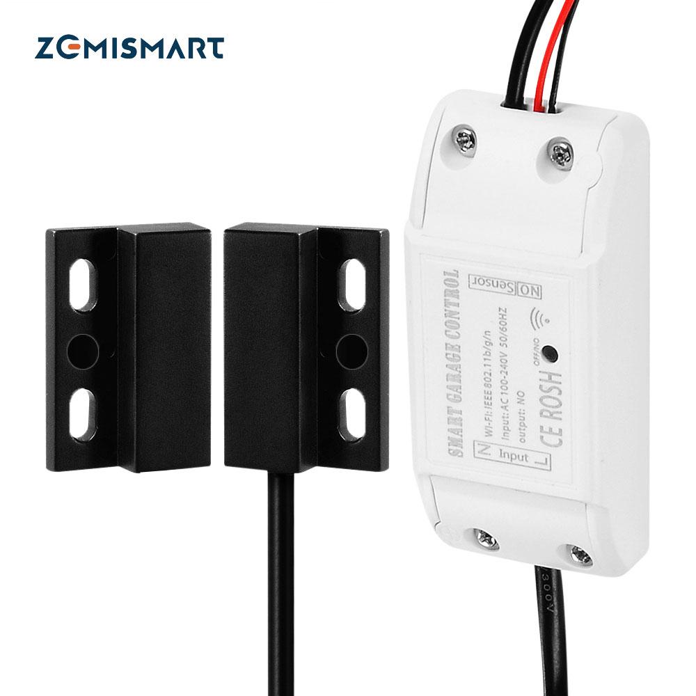 Zemismart Wifi Garage Door Controller For Car Garage Door Opener App Remote Control Timing Voice Control Alexa Google