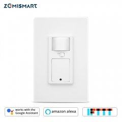 WiFi Switch with Microwave Sensor Light Smart Life APP Alexa Google Home Voice control Wall Light Push Switches