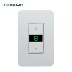 Zemismart WiFi US Dimmer Switch 110V  for Light with Display Screen Smart Life Alexa Google Home Enable