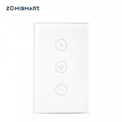 Zemismart US Dimmer Swith Touch Switch Work with Alexa Google Home Support Timer Brighter Control Home Automation