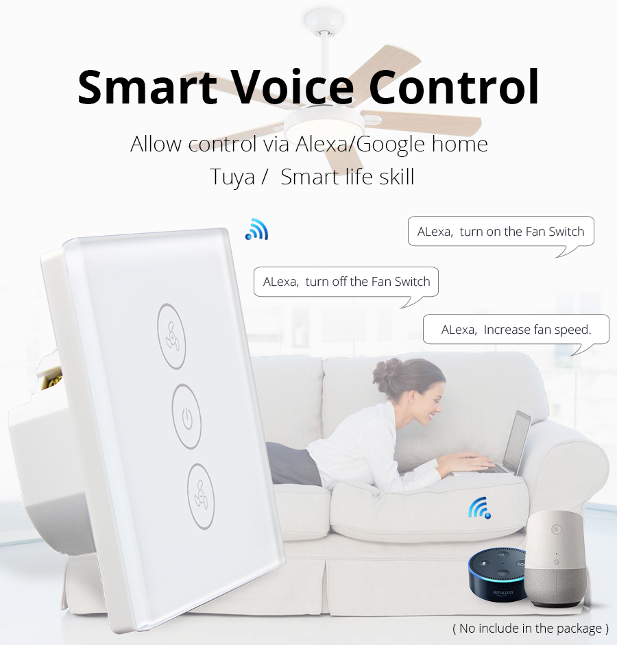 Zemismart Eu Alexa Google Home Smart Ceiling Fan Switch