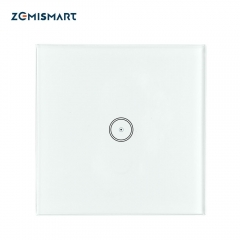 Zigbee UK One Gang Wall Light Switch Compatible with tuya Zigbee Hub No Neutral Wire Required