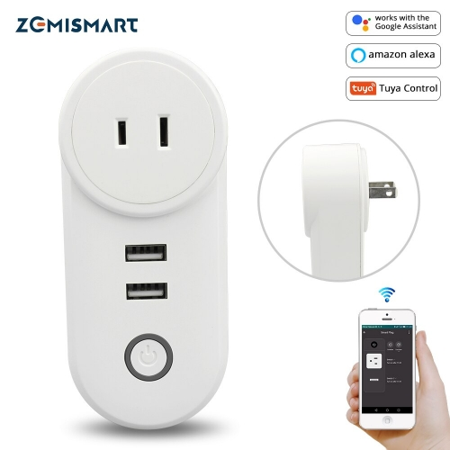 Smart WiFi Power Plug Outlet Socket with USB For Japan Tuya App Control Timer Function Work with Alexa Google Home assistant