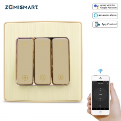 WiFi Curtain Switch with Physical Push Button Tuya Smart Life App control Alexa Echo Google Home Roller Shade Switches
