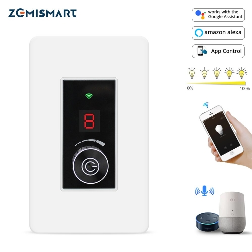 WiFi Dimmer Switch Tuya Smart life Control Smart Home WiFi Light Switch Compatible with Alexa Echo Google Home