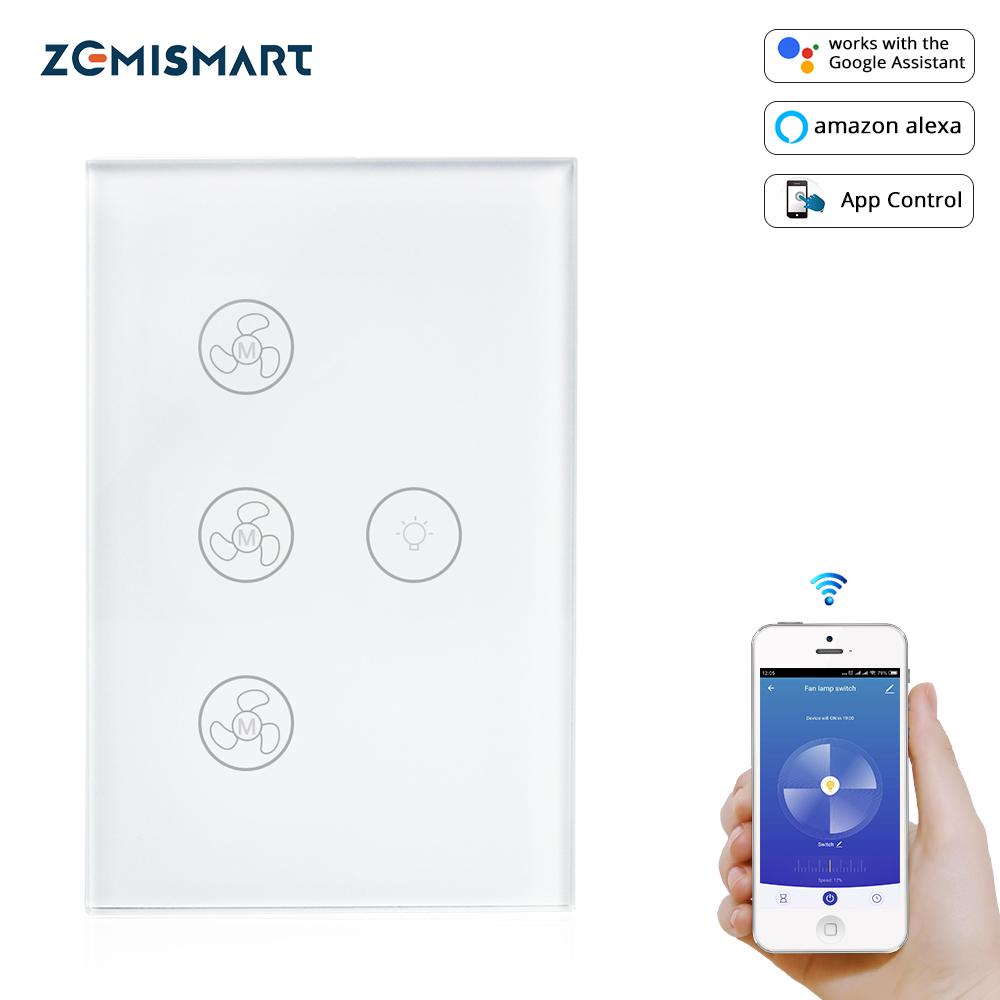 Zemismart Tuya Fan Light Switch Enable Google Home Alexa