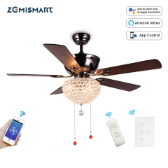 Zemismart WIFI Tuya Ceiling Fan light Kit Voice Control by Alexa Google home Remote Control