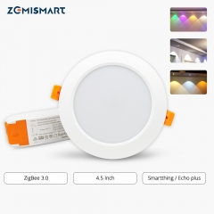 ZigBee 3.0 4 Inch Downlight  Smart RGBW Led Bulb Light Work with Amazon Echo Plus Directly 12w Smart Lighting Solution