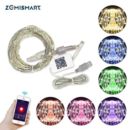 USB Christmas Decoration String lights outdoor decoration New Year Fairy Light Alexa Google Home tuya App Control