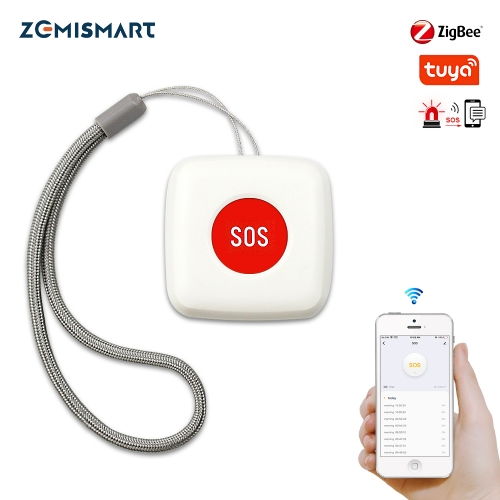 Zemismart Remote Control SOS Button Alarm Waterproof Emergency Help Alarm Switch Work with Tuya Zigbee hub