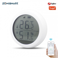 Tuya Zigbee Temperature and Humidity Sensor with LCD Screen Display Works With Amazon Google Home Assistant