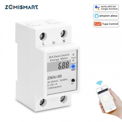 Zemismart WiFi Relay Digital Electric Energy Meter Tuya Smart Life APP Control Smart Home Timer Remote Control