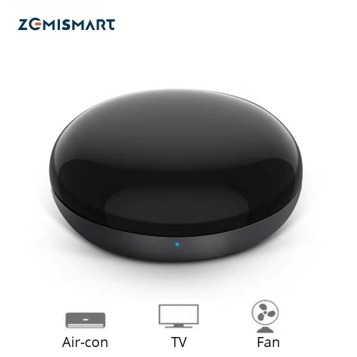 Zemismart WiFi-IR Remote IR Control Hub Wi-Fi(2.4Ghz) Enabled Infrared Universal Remote Controller For Air Conditioner TV Using
