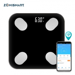 Zemismart WiFi Scale Tuya Smart Life Accurate Electronic Digital Weight Scales Fat/Muscle/Visceral Fat Weighing Scale Health management