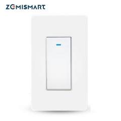 Zemismart Tuya WiFi 2 Way Smart Switch, Single-Pole Smart Light Switch IFTTT Alexa Google Home Control No Hub