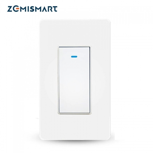 Zemismart Tuya WiFi 2 Way Smart Switch, Single-Pole Smart Light Switch Alexa Google Home Control No Hub