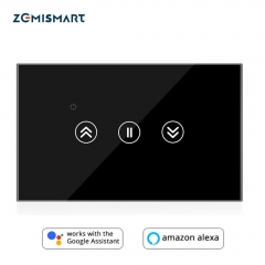 Smart Home Touch Switch for Curtain Motor tuya Jinvoo APP control Alexa Gooogle Home  Wall Switch