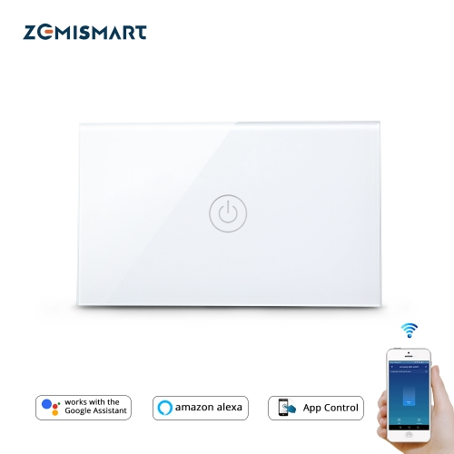 Zemismart US Tuya WiFi Light Switch No Neutral Wire Required One Two Three Gang  Alexa Google Home Assistant Smart Life Control